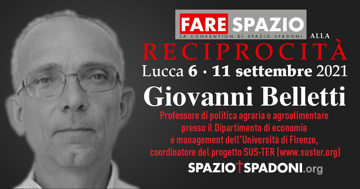 Giovanni Belletti Fare Spazio alla Reciprocità
